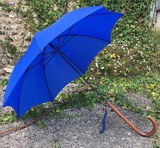 S Fox&Co Ladies royal Blue Paragon Umbrella Malacca Handle