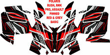 POLARIS RMK PRO, ASSAULT SNOWMOBILE DECAL WRAP KIT 05-16 PINNED BASIC