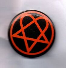 HIM LOGO BUTTON BADGE - ROCK BAND FROM FINLAND - The Funeral of Hearts 25mm PIN