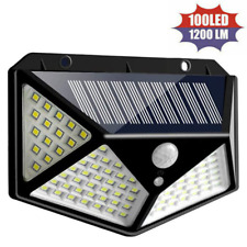 2Pcs 100 Led Solar Security PIR Motion Sensor Wall Lights Outdoor Garden Lamp