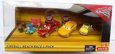 Disney Cars 3 FIREBALL BEACH Confezione da 4-RACE SANDY RUST-EZE McQUEEN CRUZ RAMIREZ!!!
