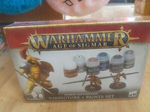 Age Of Sigmar: Stormcast Eternals Vindicators and Paint Set. Cheapest free post