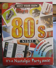 HOST YOUR OWN 80's NIGHT ( IT'S A NOSTALGIC PARTY PACK! ) BRAND NEW & SEALED!!!