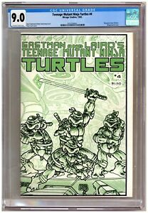 Teenage Mutant Ninja Turtles #4 (CGC 9.0) Pin-up; Wraparound cover; 1985 A478