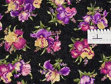 16,52€/m² - 25cmx115cm: Blumen - IRIS allover - Patchworkstoff, Benartex