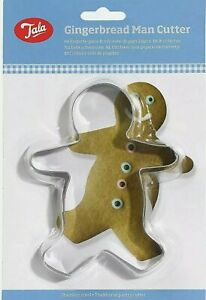 Tala Gingerbread Man Metal Stainless Steel Cookie Cutter - 14x10x2.5cm