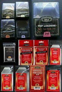 Cardboard Gold Top Loaders 20pt 60pt 140pt 190pt 240pt You Pick From List