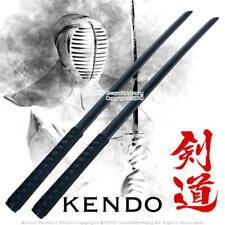 """39 """" Set of 2 Katana Black Wooden Bokken Bokutō Practice Sword with Handle Wrap"""