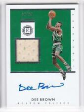 2018-19 Dee Brown #/99 Jersey Auto Panini Encased Celtics Legendary