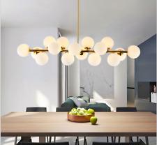 Gold Modo 16 Light LED Chandelier Pendant Round Glass Ceiling lamp Fixture