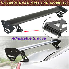 "Universal 53"" Car Hatch Aluminum Adjustable Rear Racing GT Spoiler Wing Brackets"