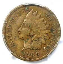 1909-S Indian Cent Penny 1C - Certified PCGS Fine Details - Rare Key Date Coin!