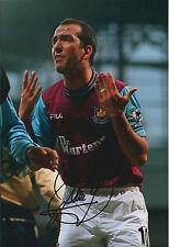 Paolo DI CANIO SIGNED Autograph West Ham 12x8 Photo AFTAL COA Dr Martens