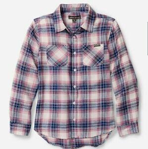 Eddie Bauer Girls Stine's Flannel Plaid Shirt XS 5/6