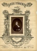 Lemercier, Paris, Theatre, Marie Dumas Vintage print Photoglyptie  8x12  C
