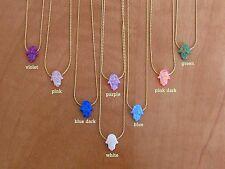 Opal hamsa necklace, opal necklace, white opal necklace, gold necklace, charm