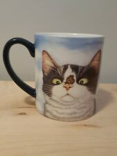 Colorful Calico Cat Kitten Kitty & Butterfly Coffee Tea Cup Mug Art Hugo Hege