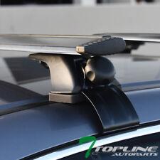"""50/"""" Teardrop Black Aluminum Roof Rack Rail Cross Bars Window Frame Adjustable S2"""