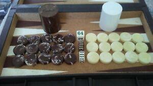 Vintage Crisloid Brown swirl & Cream Backgammon Set