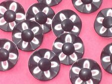 21 FLOWER Set Lot Black and White Vintage New Buttons