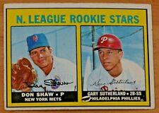 1967 TOPPS BASEBALL SET #587 NL ROOKIE STARS, Shaw/Sutherland, VG+