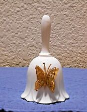 Lefton Bone China 1987 Bell with Gold Colored Butterfly
