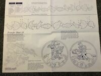 Vintage iron on transfer sheet / pattern sheet — no.18
