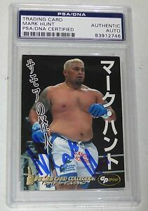 Mark Hunt Signed 2006 Pride FC Collection Rookie Card 51 PSA/DNA COA UFC RC Auto