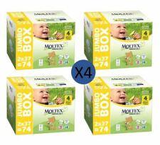 Moltex Couches Taille 4 Maxi Jumbo Biodégradable (4 paquets de 74 couches)