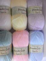 3 x 100g Balls of Stylecraft Wondersoft 4ply Baby Wool/Yarn for Knitting/Crochet