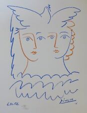 PABLO PICASSO FEMMES A LA COLOMBE SIGNED HAND NUMBERED 735/1000 LITHOGRAPH DOVE