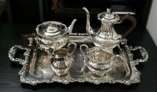 5 Pcs Hand Chased Rideau Plate Tea Set - Birks G63 - Silverware