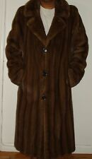 Men's NEIMAN MARCUS Mahogany Mink Fur Coat Size 42-44 EXCELL CONDITION Free Ship