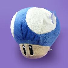Super Mario Bros Blue Mini Mushroom Plush Doll Figure Stuffed Toy Suction Cup