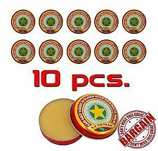 10 x 3g Golden Star Aromatic tiger Balm - Cold Headache Runny nose Joint pain