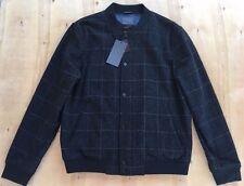 NEW Zara Man Black Wool Blend Bomber Jacket Size XL NWT H1