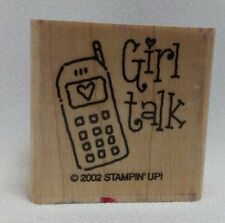 Stampin' Up 2002 Girlfriend Accessories Rubber Stamp Girl Talk Cell Phone Only