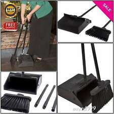 Broom Dustpan Set Hand Commercial Bristle Janitor Sweeper Cleaner Pet Hair Dirty