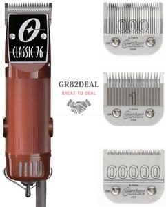 Oster Classic 76 Motor Clipper CL-76076 Blade Size 000 & 1 & Bonus Blade 00000