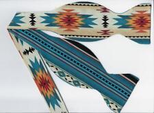(1) Fire & Water Self-tie Bow tie - Southwest Native American Blanket Design