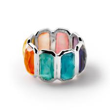 IPPOLITA Sterling Silver Rock Candy Wonderland Brick Ring in Rainbow 7