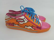 Marc Jacobs sneakers canvas orange pink womens 38.5 Italy