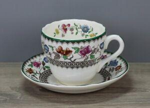 Spode Chinese Rose Kaffeetasse Tasse mit Untertasse Unterteller