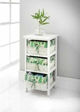 New Stunning Juliet Tropical 3 Drawer Chest Stylish Storage For Your Home.