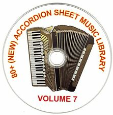 80+ SONGS! - HUGE VINTAGE ACCORDION SHEET MUSIC COLLECTION! - CD#7 of 10