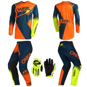 O'Neal Element Orange Jersey Pants Gloves motocross dirt bike riding package set