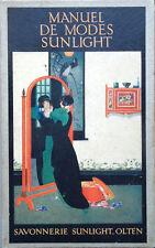 1925  INSTITUT MENAGER SUNLIGHT, COURS DE MODES, ABBIGLIAMENTO MODA FLORICOLTURA