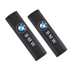Pair Car Seat Belt Pads Shoulder Strap Cushion Covers For BMW Black