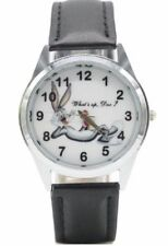 "Looney Tunes Bugs Bunny ""What's Up Doc?"" Genuine Leather Band Wristwatch"