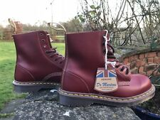 Dr Martens 1460 Rouge Foncé 8 œillets Bottes en cuir Made in England Taille UK 7 EU41 US8